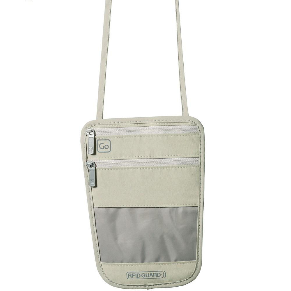 RFID Beige Blocking Boarding Pass Pouch