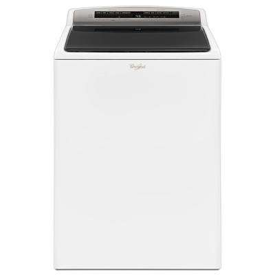 4.8 cu. ft. High-Efficiency Top Load Washer with Built-In Water Faucet in White, Intuitive Touch Controls