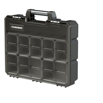 16-1/2 in. 8-Bin Deep Pro Small Parts Organizer, Black
