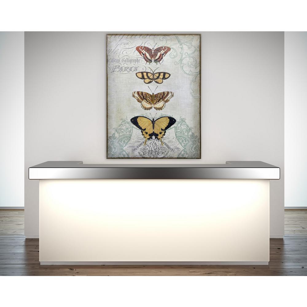 """48 in. x 36 in. """"Painted Butterflies"""" Digital Print on Fresco Jute Wall Art"""
