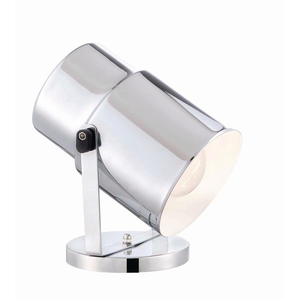 5.75 in. 1-Light Chrome Floor Lamp