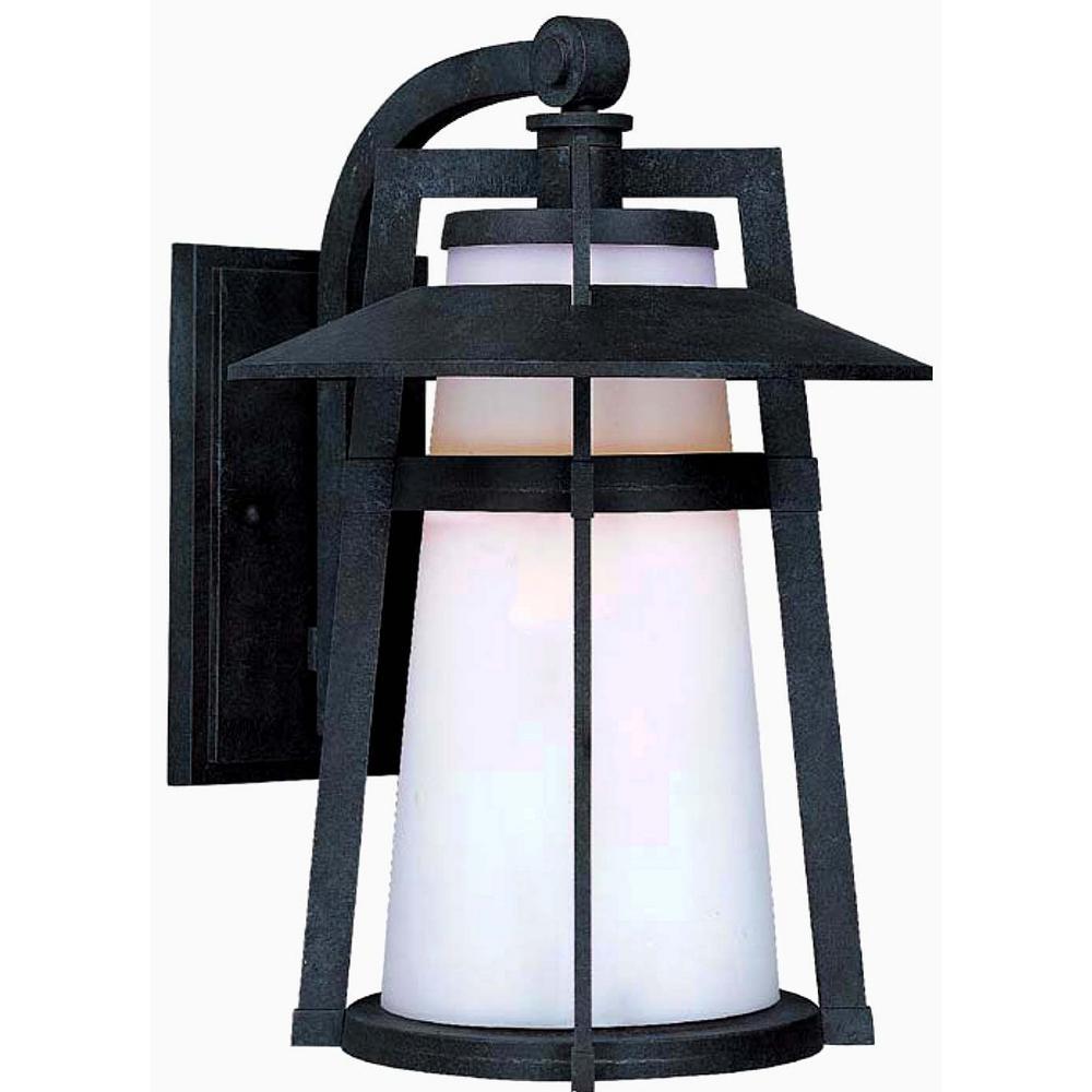 Maxim Lighting Calistoga 10 25 In W 1 Light Adobe Outdoor Wall Lantern Sconce