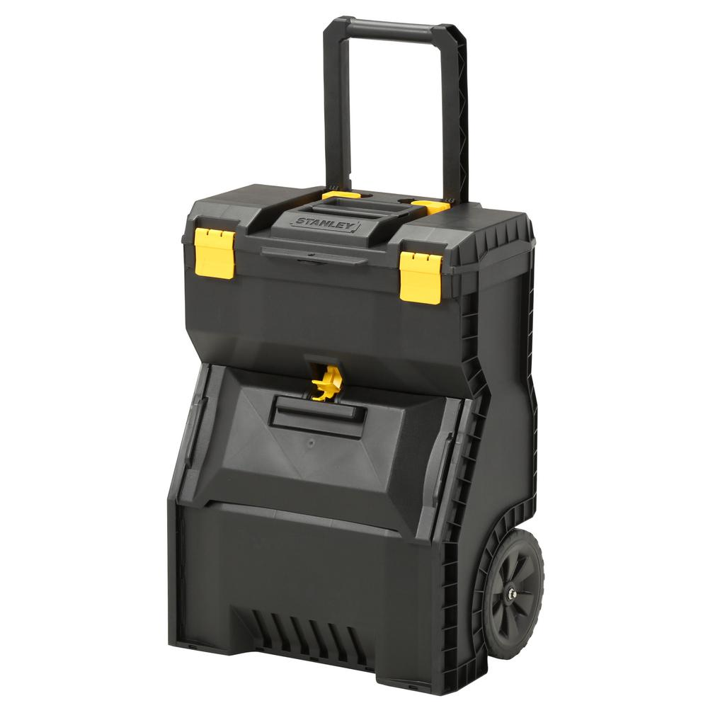 stanley 18 in 2 in 1 mobile work center tool box 018800r the