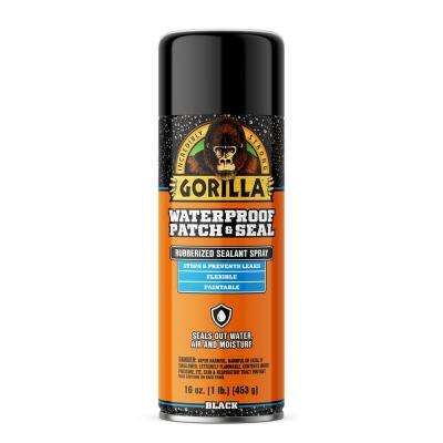 16 oz. Waterproof Patch and Seal Rubberized Sealant Spray in Black