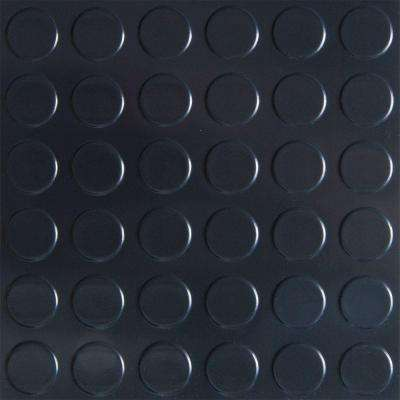 10 ft. x 24 ft. Coin Commercial Grade Midnight Black Garage Floor Cover and Protector