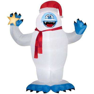 118.90 in. D x 74.80 in. W x 144.09 in. H Inflatable Bumble with Santa Hat