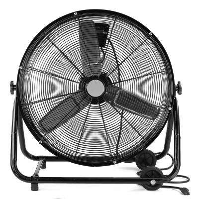 24 in. 150-Watt Variable Speed Motor High Velocity Industrial Floor Drum Fan Adjustable Tilt 3-Speed with Wheel