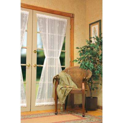 Semi-Opaque Sheer Divine 42 in. L Polyester Valance in White