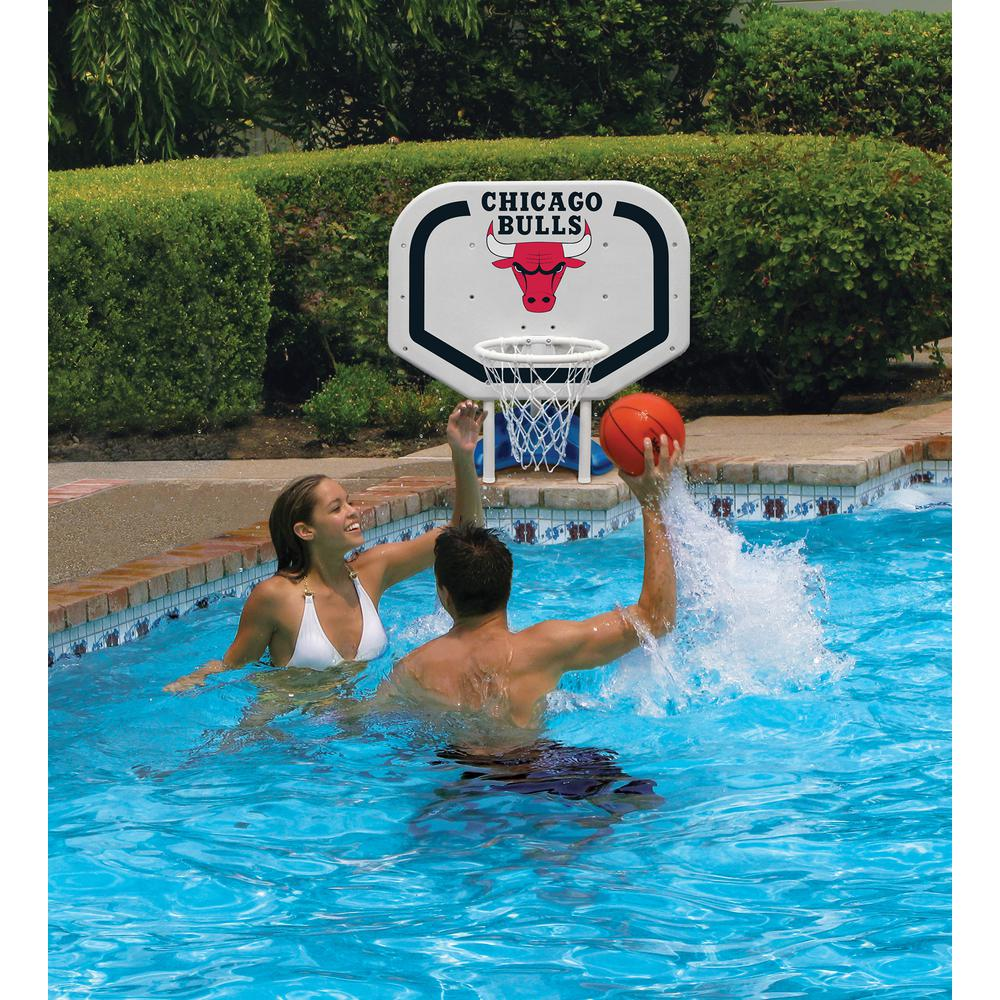 Poolmaster Chicago Bulls NBA Pro Rebounder Swimming Pool Basketball Game