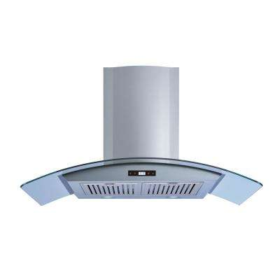 30 in. Convertible Wall Mount Range Hood in Stainless Steel and Glass with Baffle Filters and Touch Control