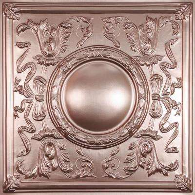 Bella Faux Copper 2 ft. x 2 ft. Lay-in or Glue-up Ceiling Panel (Case of 6)