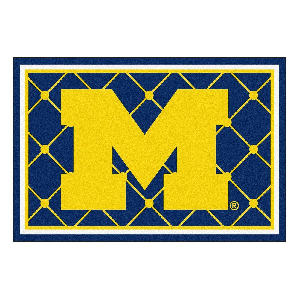 University of Michigan 5 ft. x 8 ft. Area Rug