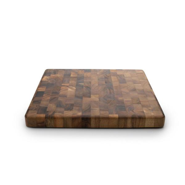 Ironwood Square End Grain Chef's Board 28218 - The Home Depot