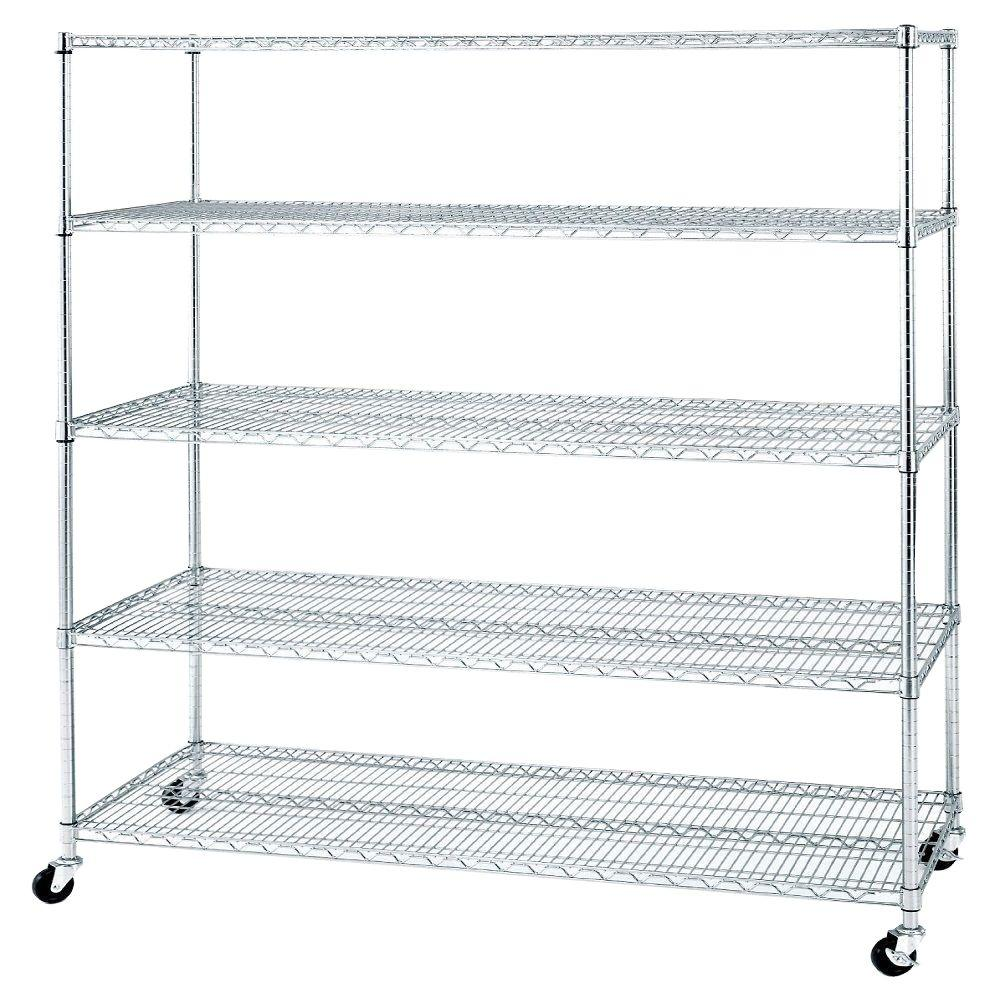 Seville Classics 72 in. x 60 in. x 24 in. 5-Shelf UltraZinc Steel ...