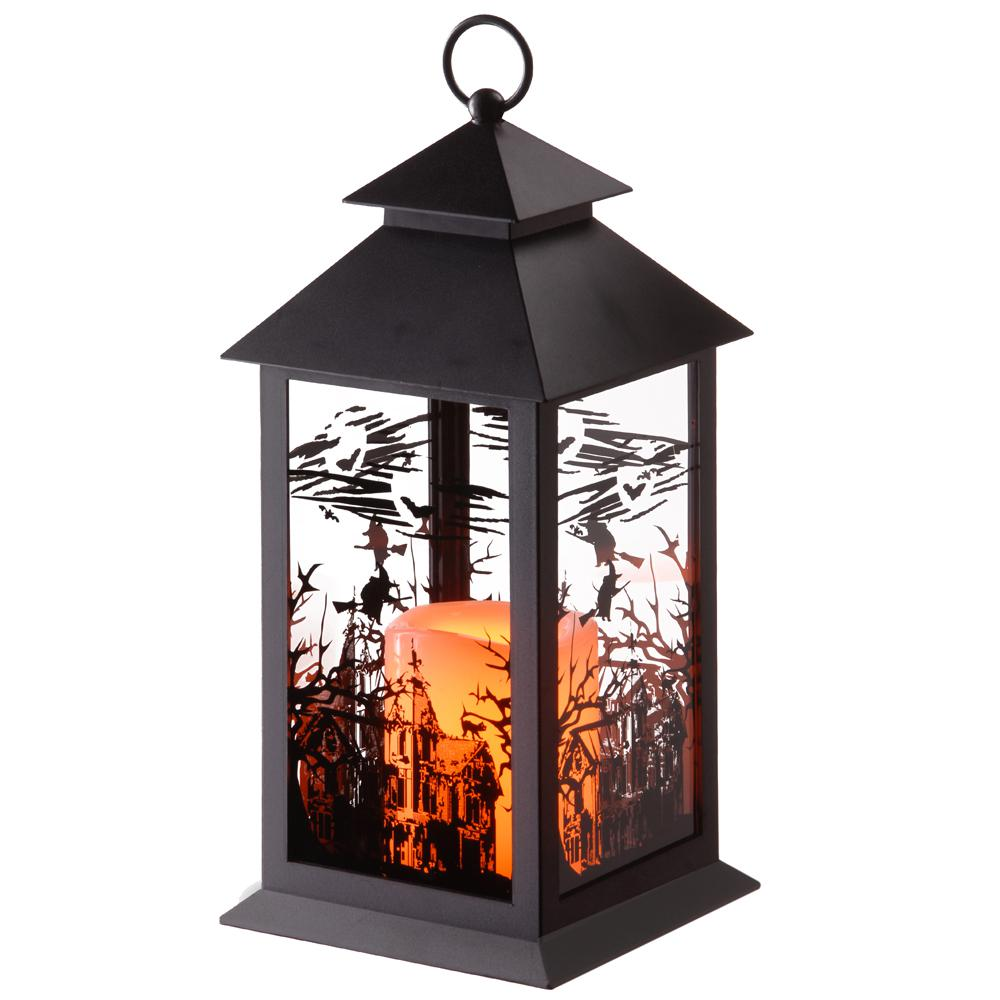 12 in. LED Witch Lantern