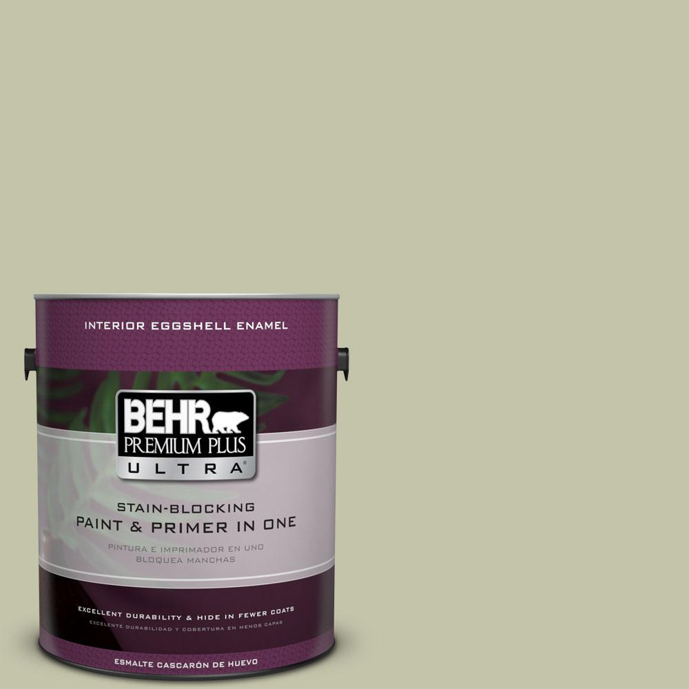 BEHR Premium Plus Ultra 1-gal. #S360-3 Balance Green Eggshell Enamel Interior Paint
