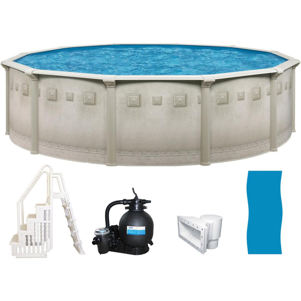18 Ft Round X 52 In Deep Metal Wall Above Ground Pool