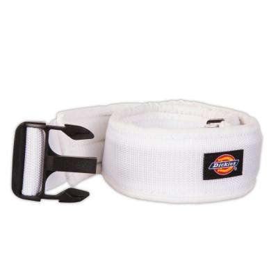 3 in. Painter's Padded Belt with Durable Plastic Buckle, White