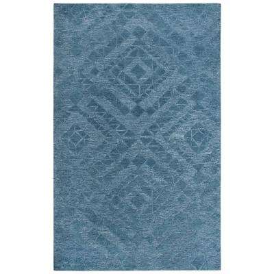 Fifth Avenue Blue 9 ft. x 12 ft. Abstract Area Rug