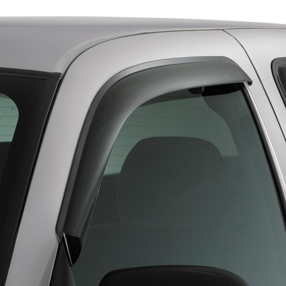 Ventvisor(R) Deflector - Outside Mount, 2 pc. AVS Original Ventvisor is an external mount side window deflector with an unique design. Allows fresh air to circulate through open windows while keeping the weather out reducing interior heat and window fogging. Easy installation with no special hardware or drilling required.