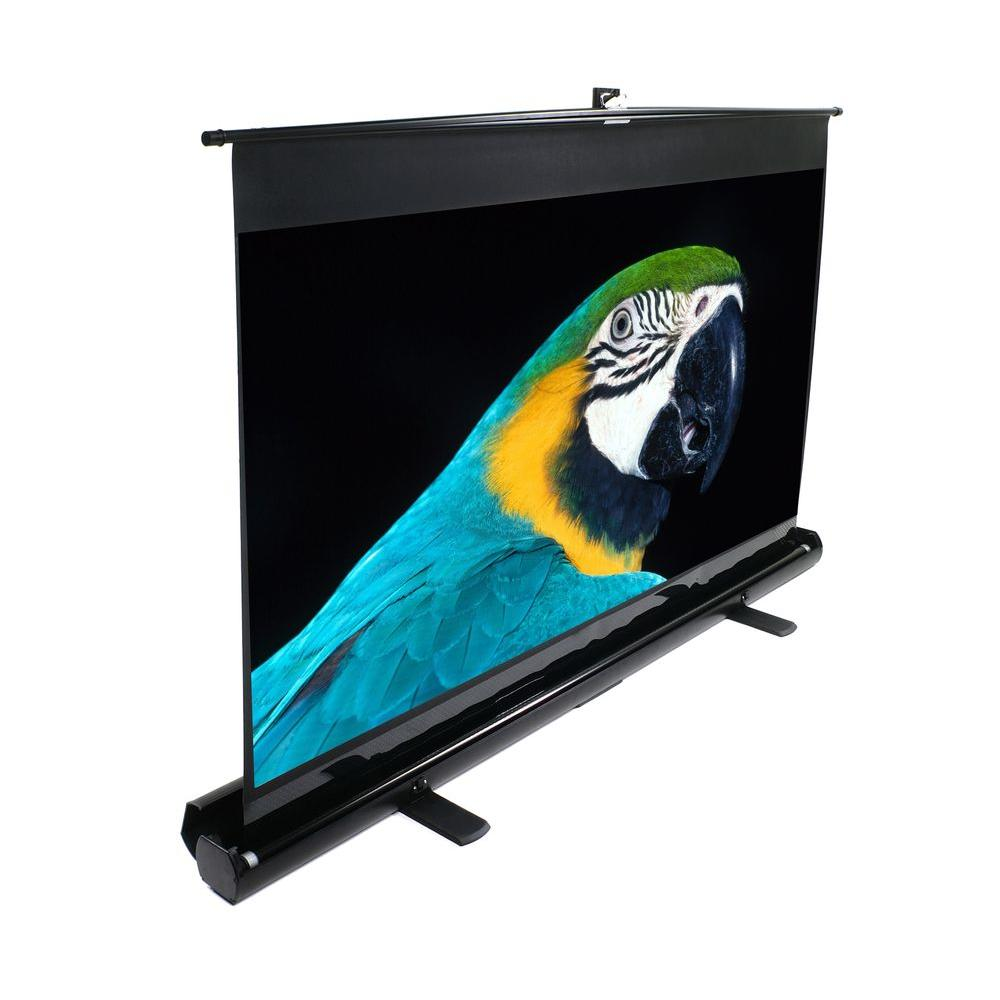 Elite Screens ezCinema Series 84 in. Diagonal Portable Projection Screen with Floor Pull Up model