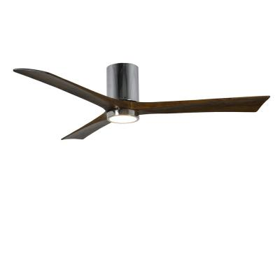 Irene 60 in. LED Indoor/Outdoor Damp Polished Chrome Ceiling Fan with Remote Control, Wall Control