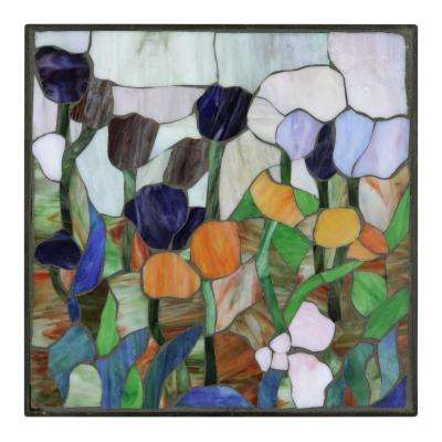 12 in. x 12 in. Tulip Decorative Garden Stone