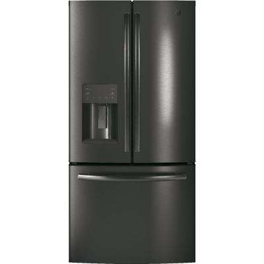 33 in. W 17.5 cu. ft. Counter-Depth French-Door Refrigerator in Black Stainless Steel, Fingerprint Resistant