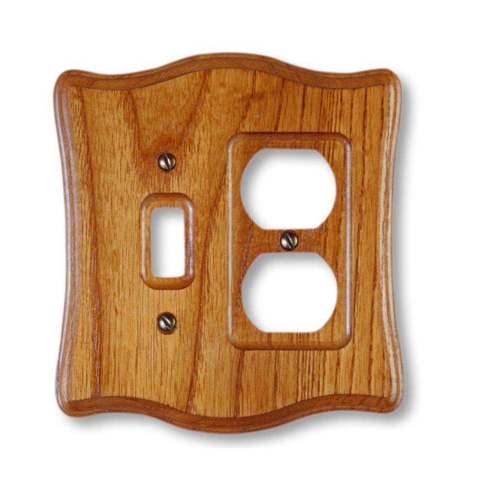 1 Toggle 1 Duplex Wall Plate - Tavern Oak