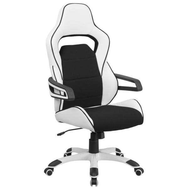 Flash Furniture Black and White Office/Desk Chair