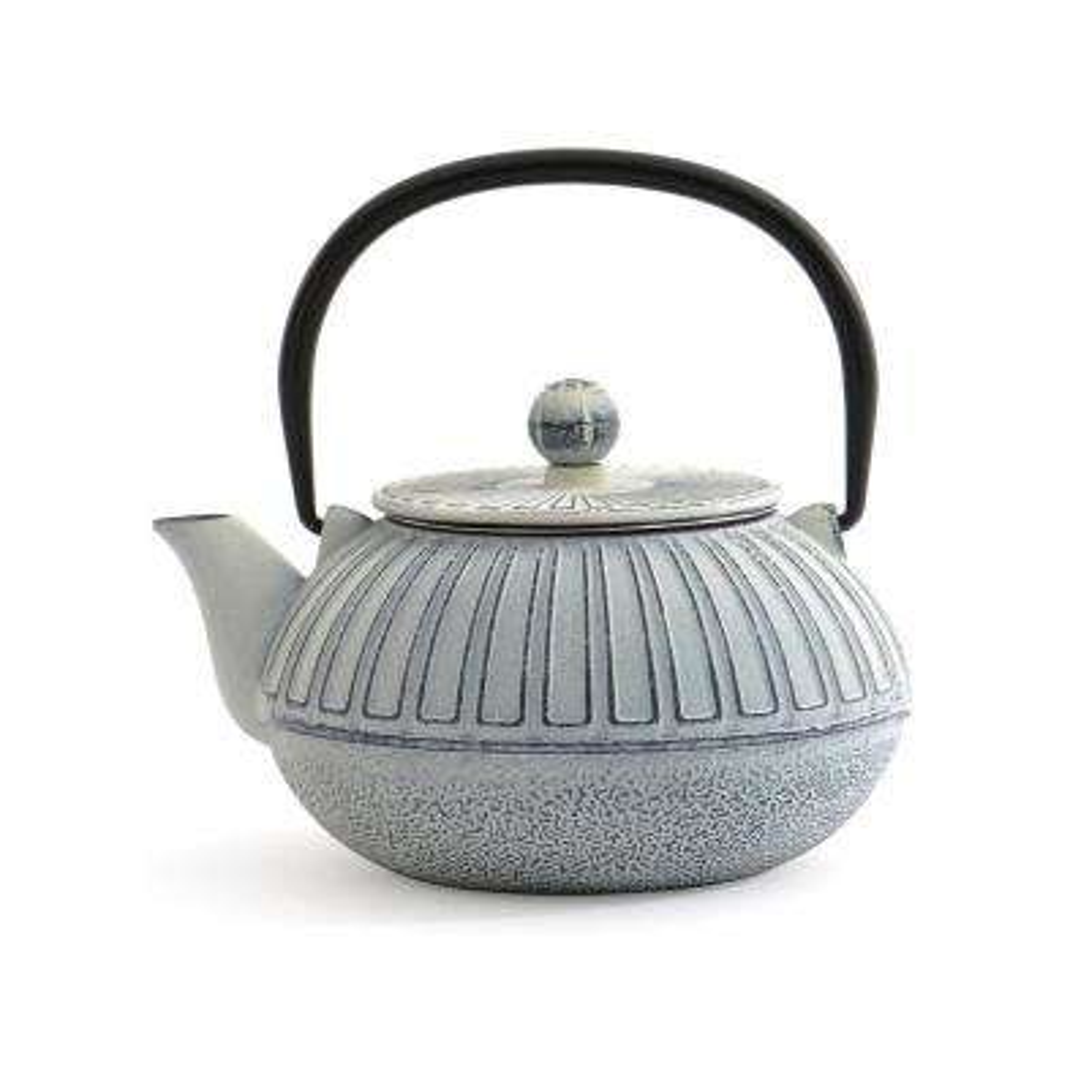3.5-Cup White Cast Iron Teapot