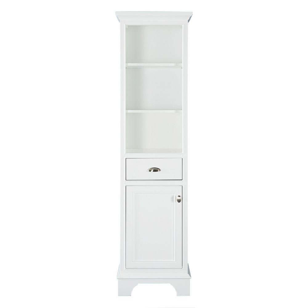 bathroom linen cabinets white home decorators collection hayward 18 in w x 67 1 2 in h 16171