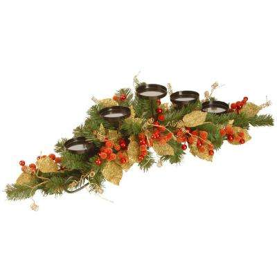 36 in. Berry/Leaf Vine Candle Holder