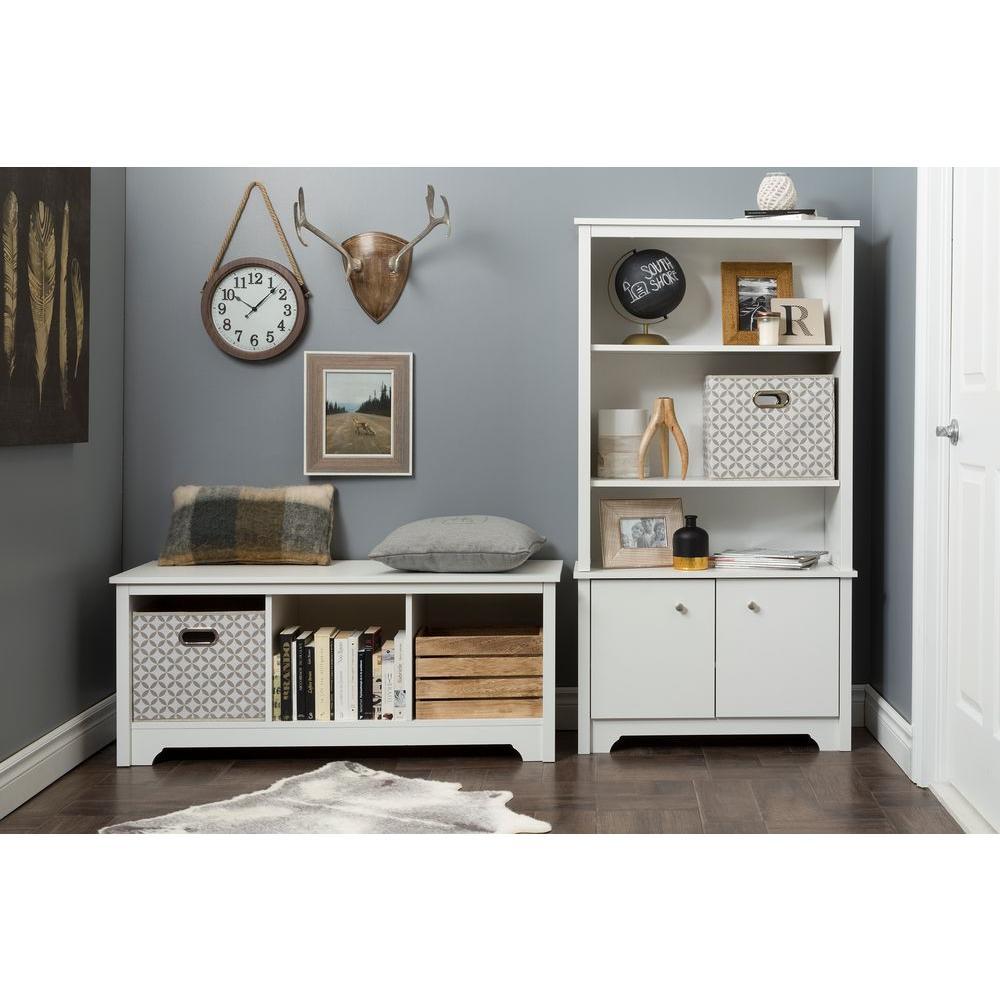 Vito Pure White Storage Open Bookcase