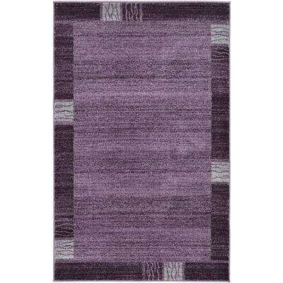 Del Mar Purple 3 ft. x 5 ft. Area Rug