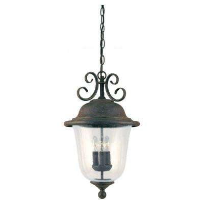 Trafalgar 3-Light Outdoor Oxidized Bronze Hanging Pendant Fixture
