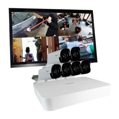 Ultra 8-Channel HD 2TB Surveillance NVR with (6) 4 Megapixel Bullet Cameras