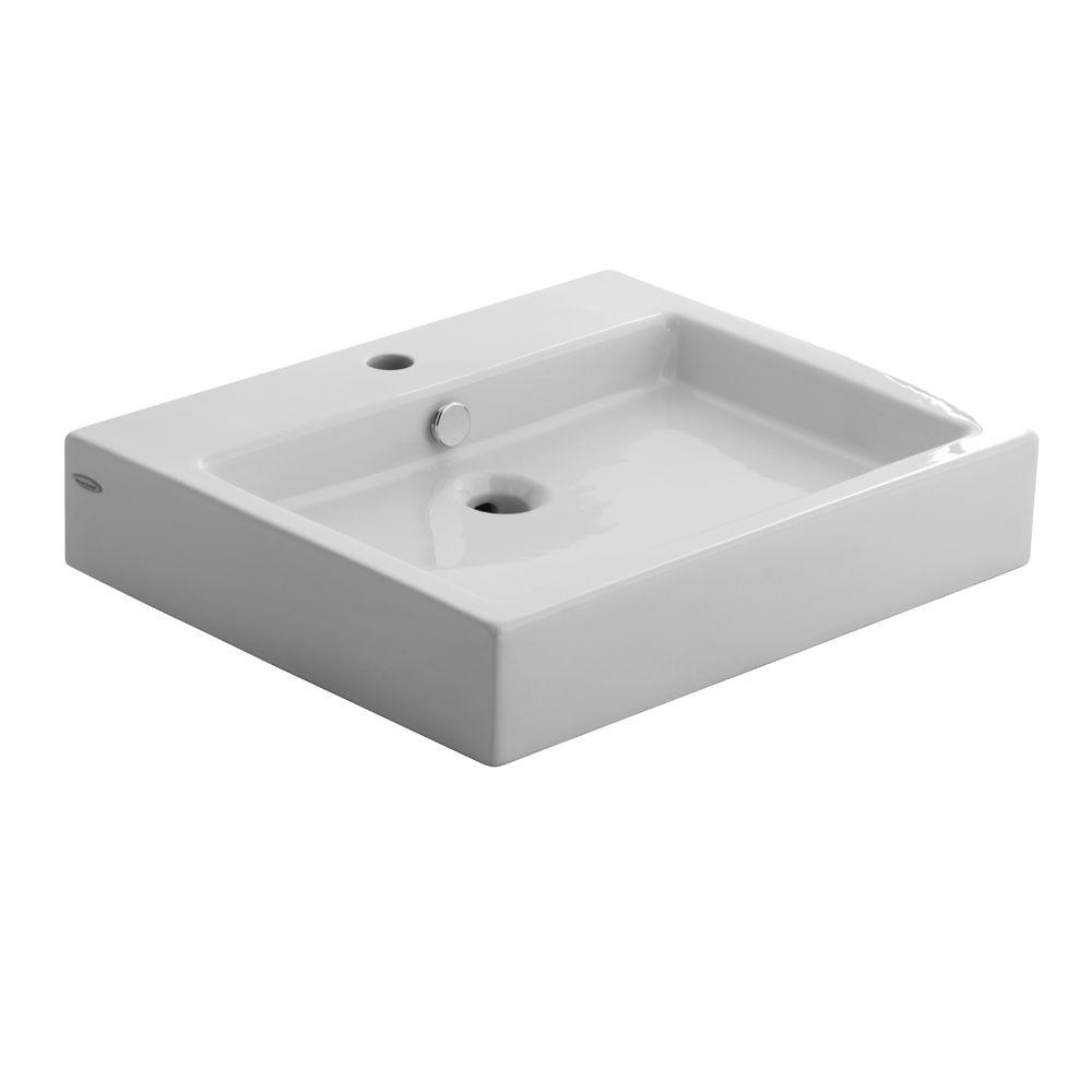 American Standard Studio Vessel Sink in White-0621.001.020 ...
