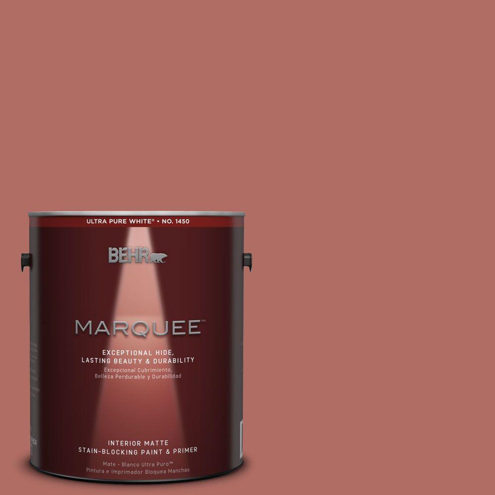 1 gal. #MQ1-22 Scene Stealer One-Coat Hide Matte Interior Paint