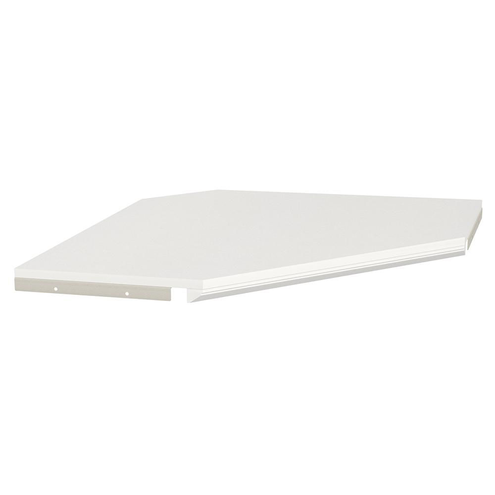 Impressions 28 in. White Corner Shelf Kit with Trim