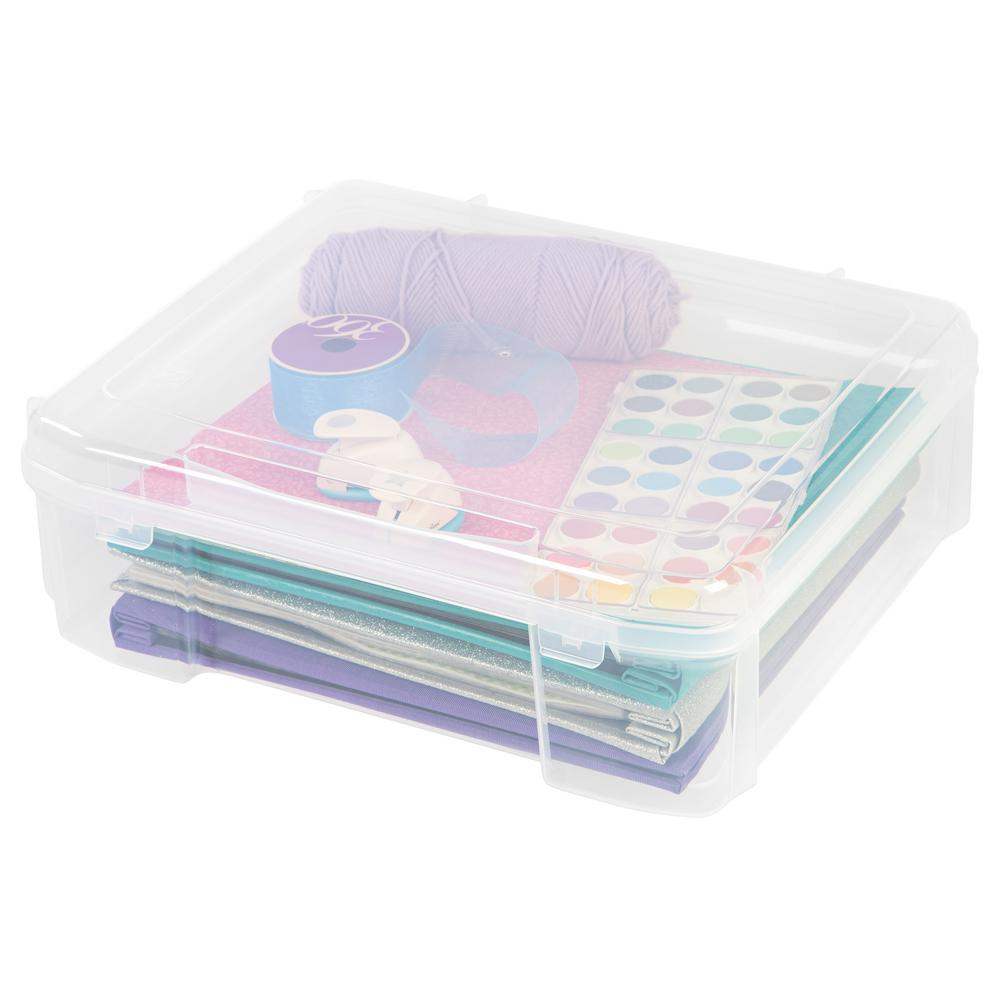 IRIS 12 in. x 12 in. Portable Project Case in Clear