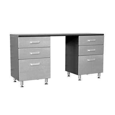 Metallic Series 36 in. H x 71 in. W x 21 in. D Storage cabinet with 6-Sturdy Drawers