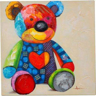 """20 in. x 20 in. """"Waiting For A Friend"""" Hand Painted Canvas Wall Art"""