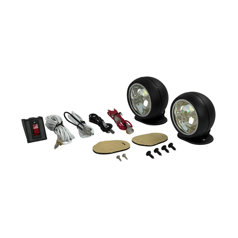 Towing Lights Equipment The Home Depot 4 Pin Trailer Wiring Diagram 02 Blazer 311 In Round Halogen Driving Light Kit With Radiant Effects