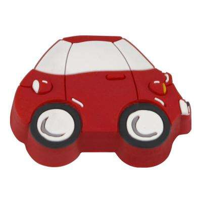 Kids Corner Car 1-13/16 in. x 1-1/2 in. Multi-Colored Metal Cabinet Knob