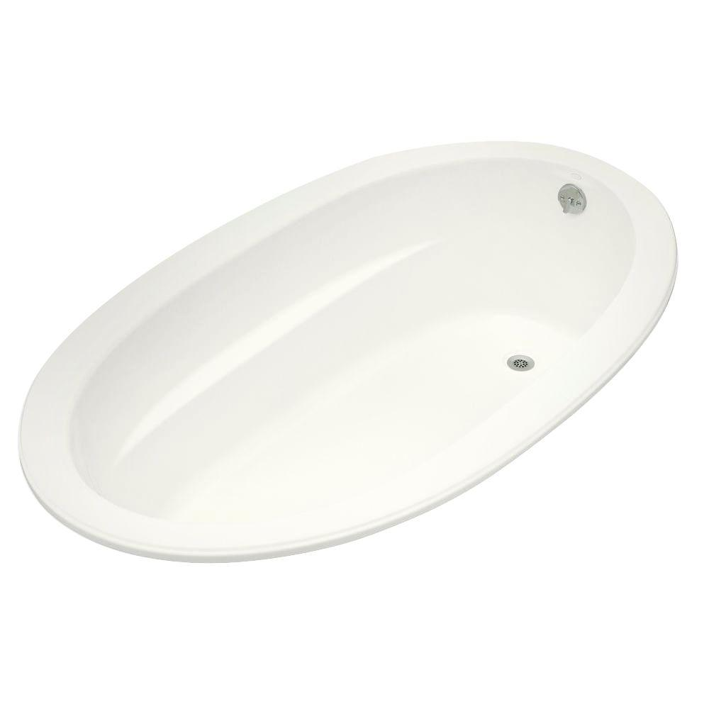 KOHLER Sunward 6 ft. Reversible Drain Acrylic Soaking Tub in White-K ...