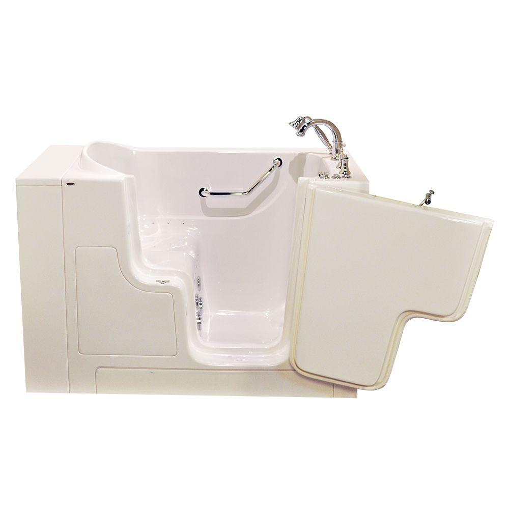 American Standard OOD Series 52 in. x 30 in. Walk-In Whirlpool and Air Bath Tub with Right Outward Opening Door in Linen