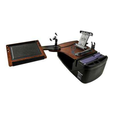 Reach Desk Back Seat Mahogany with Built-in Power Inverter, X-Grip Phone Mount, Tablet Mount and Printer Stand