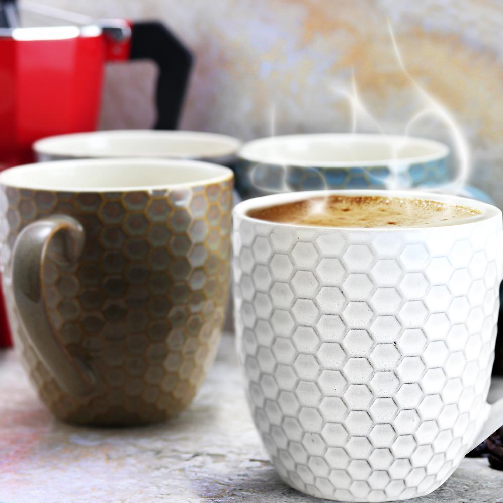 Honey Bee 15 oz. Assorted Color Mugs (Set of 6)