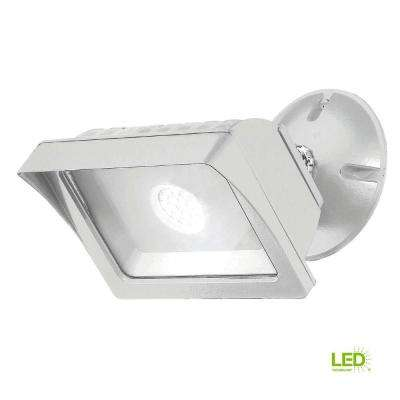 White Outdoor LED Adjustable Single-Head Flood Light